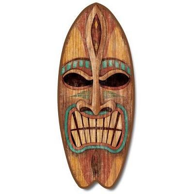 angry-tiki-large-surfboard Tiki Bar Ideas & Tiki Bar Decorations