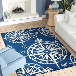 beaufort-hand-hooked-navybeige-indooroutdoor-area-rug Coastal Rugs and Coastal Area Rugs