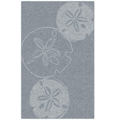 brumlow-mills-blue-sand-dollar-seashell-beach-rug Beach Rugs and Beach Area Rugs
