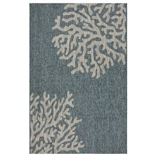 christiane-reef-bluegray-indooroutdoor-area-rug Beach Rugs and Beach Area Rugs