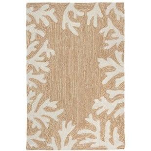 claycomb-coral-border-hand-tufted-neutral-indooroutdoor-area-rug-1 Coastal Rugs and Coastal Area Rugs