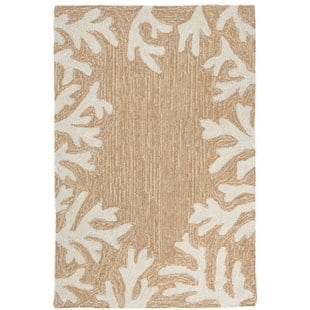 claycomb-coral-border-hand-tufted-neutral-indooroutdoor-area-rug Beach Rugs and Beach Area Rugs