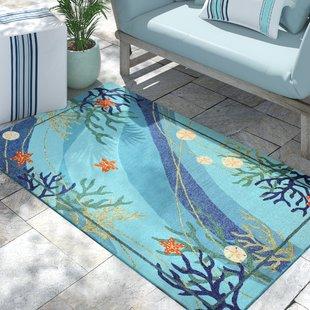 coeymans-underwater-blue-coral-and-starfish-indooroutdoor-area-rug Coastal Rugs and Coastal Area Rugs
