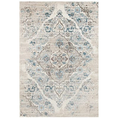 distressed-cream-area-rug Beach Rugs and Beach Area Rugs