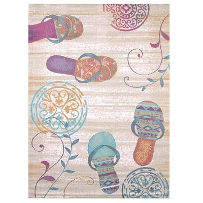 flip-flop-shore-rug Beach Rugs and Beach Area Rugs