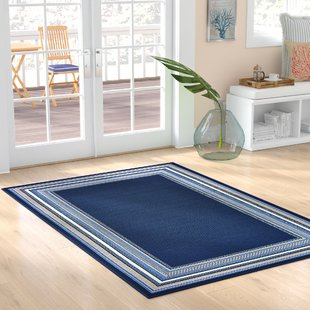 hadiya-navy-blue-indooroutdoor-area-rug Coastal Rugs and Coastal Area Rugs
