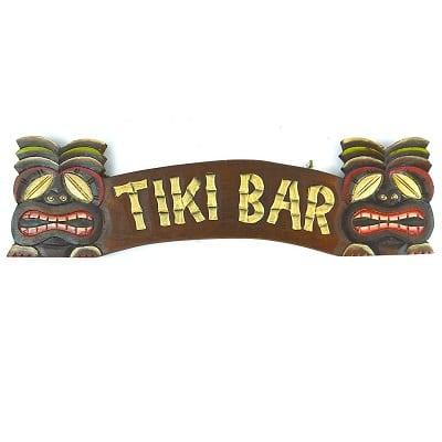 hand-carved-tiki-bar-sign Tiki Bar Ideas & Tiki Bar Decorations