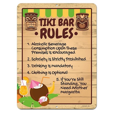 honey-dew-gifts-tiki-bar-sign Tiki Bar Ideas & Tiki Bar Decorations