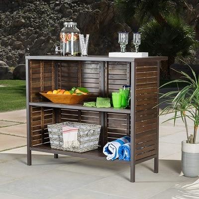 isabel-acacia-bar-table Tiki Bar Ideas & Tiki Bar Decorations