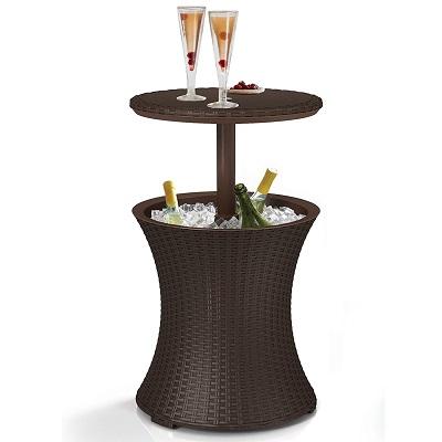 keter-cool-bar-rattan-outdoor-bar-cooler Tiki Bar Ideas & Tiki Bar Decorations