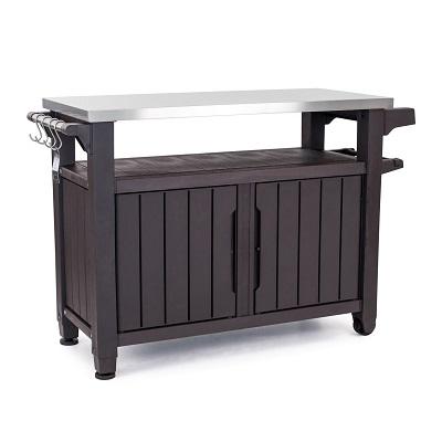 keter-unity-bar-table-prep-station Tiki Bar Ideas & Tiki Bar Decorations