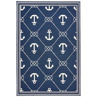 mariam-anchor-navy-indooroutdoor-area-rug Coastal Rugs and Coastal Area Rugs