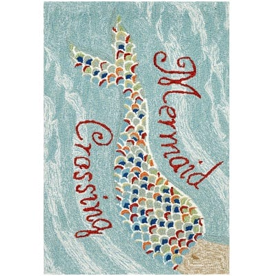 mermaid-area-rug Beach Rugs and Beach Area Rugs