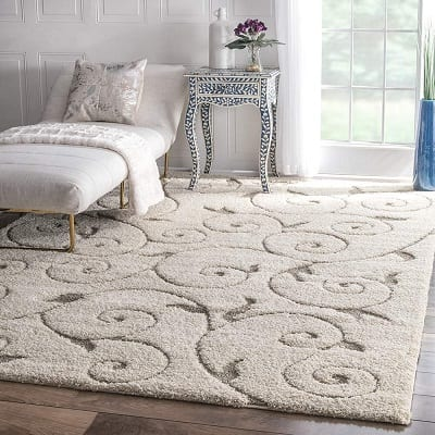 nuloom-cream-machine-maisha-area-rug Beach Rugs and Beach Area Rugs
