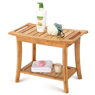 oasisspace-bamboo-shower-bench Teak Shower Benches For Sale