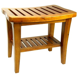 redmon-genuine-teak-bench Teak Shower Benches