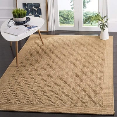 safavieh-palm-beach-maize-sisal-and-jute-area-rug Coastal Rugs & Coastal Area Rugs