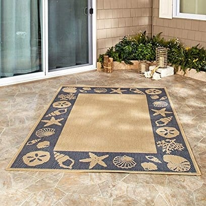 the-lakeside-collection-seashell-area-rug Beach Rugs and Beach Area Rugs