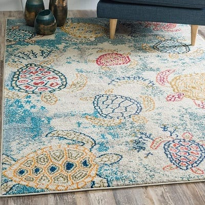 underwater-sea-turtles-area-rug Coastal Rugs & Coastal Area Rugs
