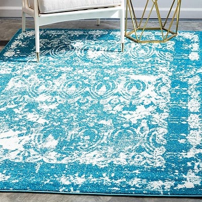unique-loom-blue-area-rug Beach Rugs and Beach Area Rugs