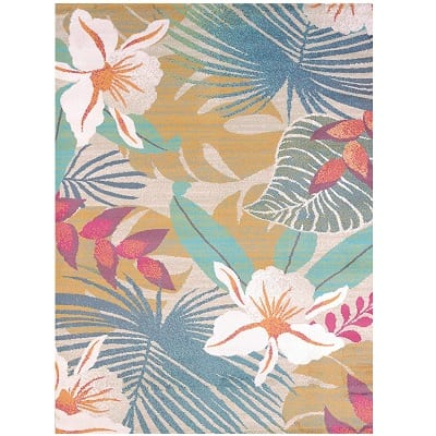 united-weavers-of-america-flower-jungle-tropical-beach-rug Beach Rugs and Beach Area Rugs