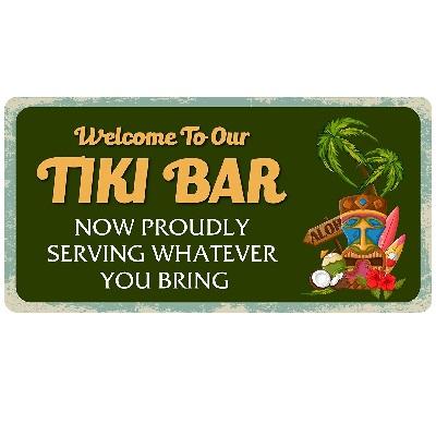 welcome-to-our-tiki-bar-sign Tiki Bar Ideas & Tiki Bar Decorations