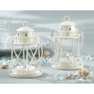 BytheSeaLighthouseSmallMetalLantern28Setof629 Beach Wedding Lanterns & Nautical Wedding Lanterns