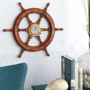 Ship Wheel Clocks