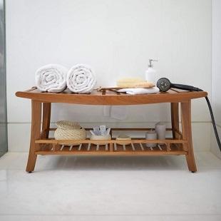 teak-shower-benches Beach Decor