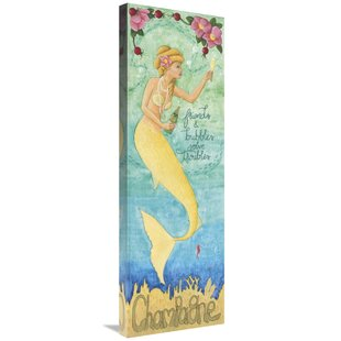 27NouveauMermaidChampagne27GraphicArtPrintonCanvas Mermaid Home Decor