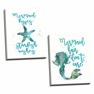 ChelveyBeautifulNauticalTealandBlue27MermaidHairDon27tCareandMermaidKisses2CStarfishWishes27 Mermaid Home Decor