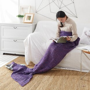 HamswellMermaidAcrylicBlanket Mermaid Home Decor