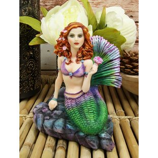 LombardoBrigidAshwoodFantasyArtColorfulPastelNauticalSirenMermaidOceanCelticStoneHoldingRoseSeaBeachPrincessMermaidsDecorativeAccentResinSculptu Mermaid Home Decor