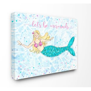 SetzerLetsBeMermaidsSwimmingMermaidKidsWallDE9cor Mermaid Home Decor