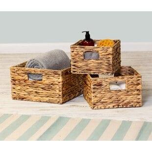 3-piece-wickedrattan-basket-set Wicker Baskets and Rattan Baskets