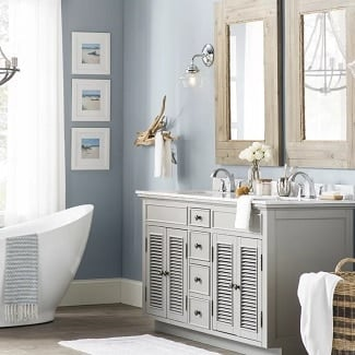 beach-bathroom-decor Beach Decor and Coastal Decor