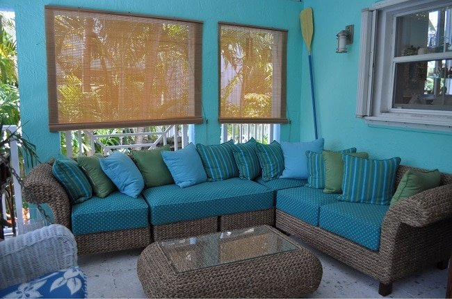 by-Sweet-Surroundings-Design-Group-in-Key-Biscayne-Bungalow Wicker Ottomans and Rattan Ottomans