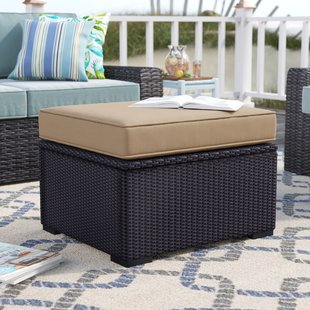 dinah-outdoor-ottoman-with-cushion Wicker Ottomans and Rattan Ottomans