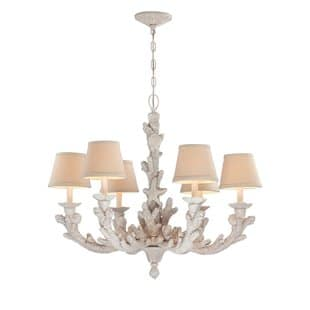 gigi-6-light-shade-chandelier Beach Themed Chandeliers