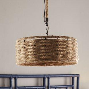 griffin-3-light-drum-chandelier Beach Themed Chandeliers