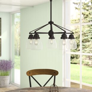 hansen-5-light-shaded-chandelier Beach Themed Chandeliers