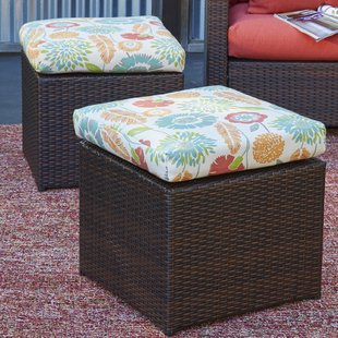 mcmanis-rattan-ottoman-with-floral-cushion-set-of-2 Wicker Ottomans and Rattan Ottomans