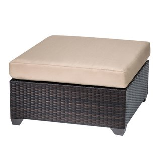meier-outdoor-ottoman-with-cushion Wicker Ottomans and Rattan Ottomans