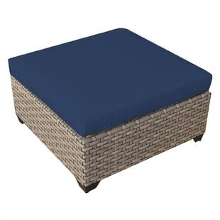 monterey-ottoman-with-cushion Wicker Ottomans and Rattan Ottomans