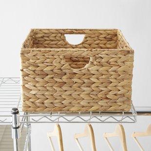 wayfair-basics-woven-hyacinth-storage-basket-set-set-of-2 Wicker Baskets and Rattan Baskets
