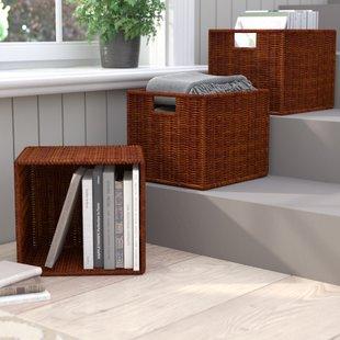 wicker-storage-basket-set-of-3 Wicker Baskets and Rattan Baskets