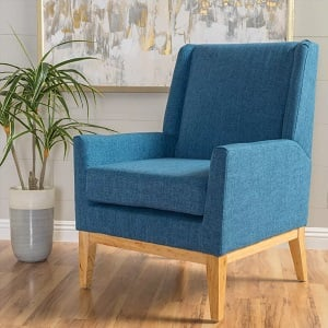 Aurla-Upholstered-Chair-Christopher-Knight-Home-Blue 100+ Coastal Accent Chairs and Beach Accent Chairs