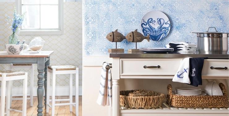 Coastal-Kitchen-Decor-by-Joss-Main-in-Room-Ideas Beach Kitchen Decor and Coastal Kitchen Decor