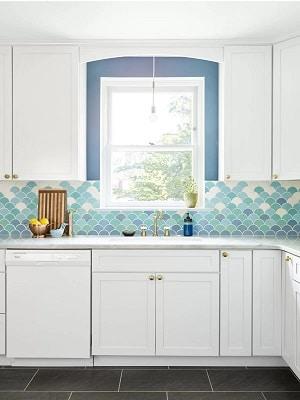 Coastal-Kitchen-Design-by-Michelle-Gaige Beach Kitchen Decor and Coastal Kitchen Decor