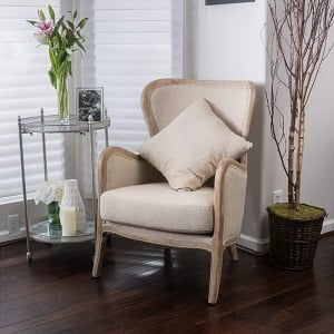 Crenshaw-Fabric-Wing-Chair-Beige-Christopher-Knight-Home 100+ Coastal Accent Chairs and Beach Accent Chairs